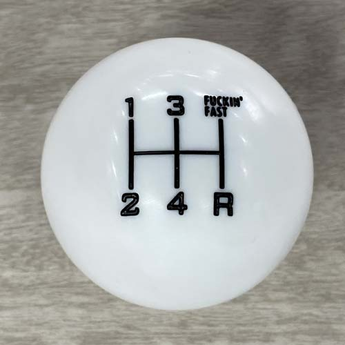 5 Speed Manual Shift Knob in White