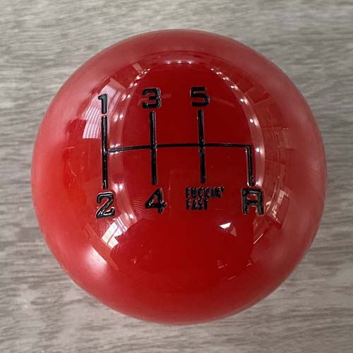 6 Speed Manual Gear Knob in Red Color
