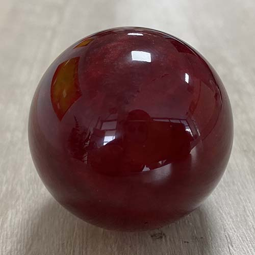 Red Resin Marble Ball