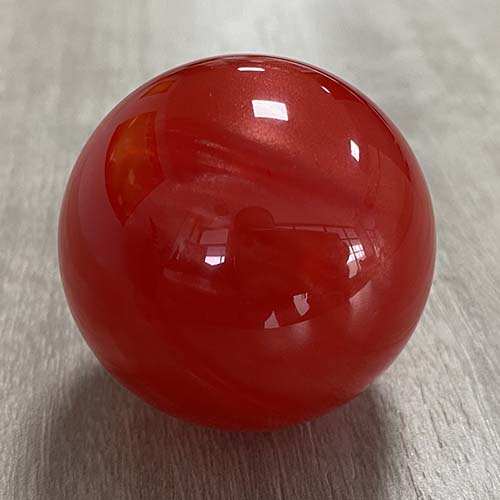 Rose Red Resin Marble Ball